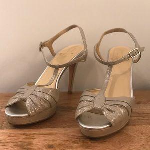 Kate Spade ankle strap platform heel size 7